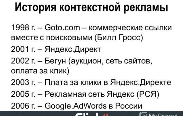 3 История контекстной рекламы